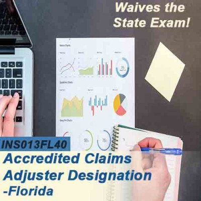Florida - ALL-LINES ACCREDITED CLAIMS ADJUSTER DESIGNATION COURSE (ACA) ONLINE (INS013FL40) 6-20