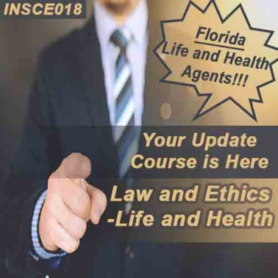 Florida - 5-HR LAW & ETHICS - LIFE AND HEALTH (INSCE018FL5d)